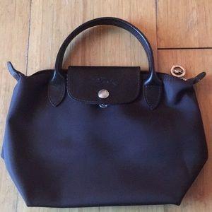NEW Longchamp small chocolate purse